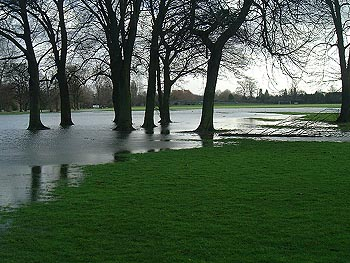 The River Encroaches Onto Eastern Side Of Home Park Windsor At This Point Is Downstream Romney Lock 13th December