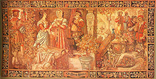 Exhibition Stand Windsor : Ye merrie wives of windsor from the royal tapestry