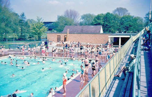 The war memorial swimming baths 1963 and baths island for Windsor swimming pool with slides